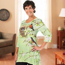 Ladies' Spring Design Artisan Tee Shirt - Spring Nest