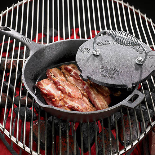 Cast Iron Bacon Press and Skillet