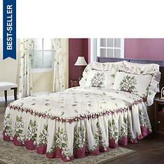 Melissa Quilt Top Bedspread - Burgundy