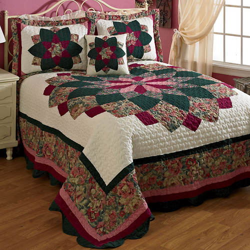 Peacock Quilted Bedspread