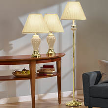 3-Pc. Lamp Set - Cream