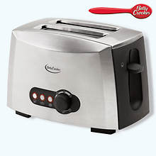 Betty Crocker Multi-Function 2 Slice Stainless Steel Toaster