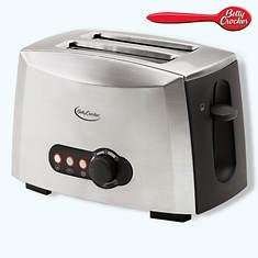 Betty Crocker Multi-Function 2 Slice Stainless Steel Toaster