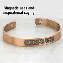 Copper Magnetic Jesus Bracelet
