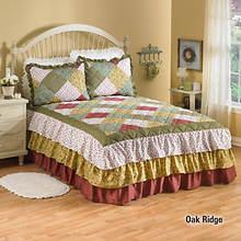 Ruffle Bedspread - Oak Ridge