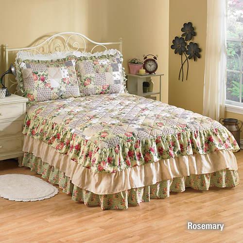 Ruffle Bedspread - Rosemary