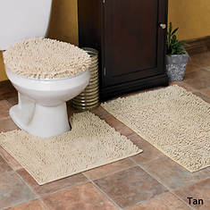 Glenwood Chenille Bath Rug Set - Tan