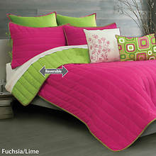 Laurel Quilt Set - Fushia/Lime