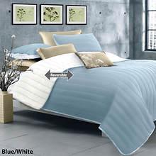 Laurel Quilt Set - Blue/White