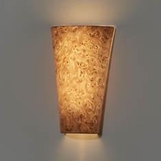 Smart Living Battery-Powered LED Burlwood Resin Wall Sconce