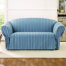 Sure Fit Grain Sack Slipcover - Loveseat - Blue