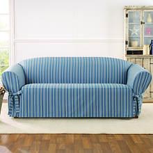 Sure Fit Grain Sack Slipcover - Sofa - Blue
