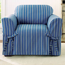 Sure Fit Grain Sack Slipcover - Chair - Blue