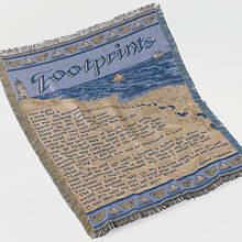 Double Woven Throw - Footprints