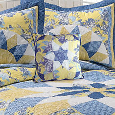 French Star Pillow - Blue