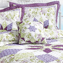 French Star Pillow - Lavender