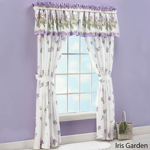Iris Garden Panel Pair