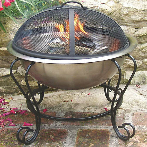 Stainless Steel Dual Purpose Fire Pit
