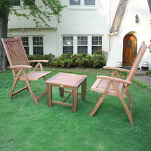 3-Pc.Solid Wood Bistro Set