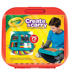 Crayola Create and Carry 75-Piece Art Set