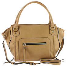 Urban Expressions Drew Syn Crossbody Hobo Bag