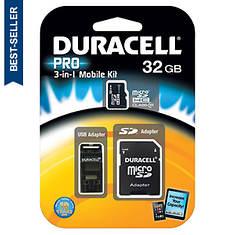 Duracell 32GB MicroSD/SD Card Kit