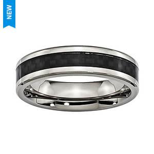 Carbon Fiber Inlay Band Ring