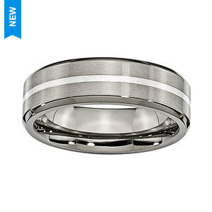 Brushed Sterling Band Ring