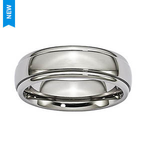 Grooved Trim Band Ring