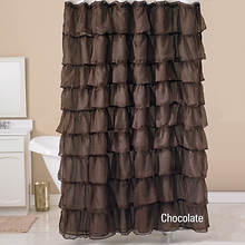 Betty Shower Curtain - Chocolate