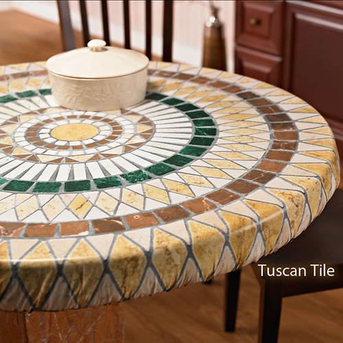 Elasticized Vinyl Table Cover