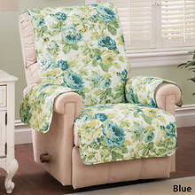 English Floral Furniture Protector - Chair - Blue