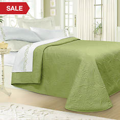 Luxury Quilted Bedspread - Sage