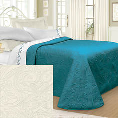 Luxury Quilted Bedspread - Ivory