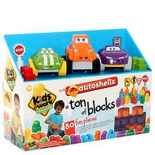 Kids@Work Autoshellz 80-Piece Block Set