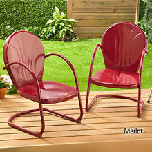 Retro Tulip Chair - Merlot