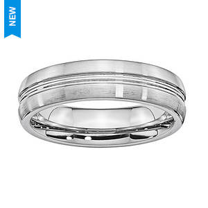 Brushed Center Groove Ring
