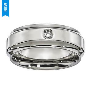 Diamond Accent Bevel Edge Ring