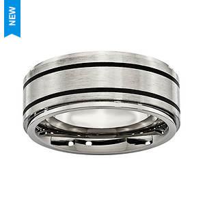 Brushed Stripe Band Ring