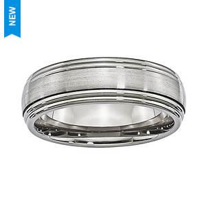 Brushed Double Edge Band Ring