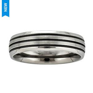 Brushed 3 Row Stripe Band Ring
