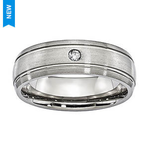 Diamond Accent Brushed Band Ring