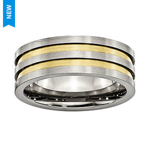 Gold Groove Band Ring