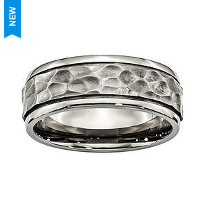 Hammered Look Band Ring