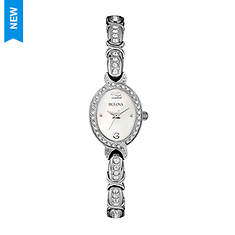 Bulova Oval Stainless Crystal Watch