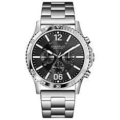 Caravelle New York Men's Grey Dial Bracelet Watch