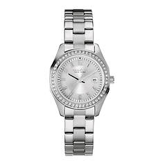 Caravelle New York Stainless Steel Crystal Watch