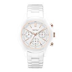 Caravelle New York Ladies' White Ceramic Watch
