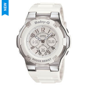 Baby G White Ana-Digi Watch