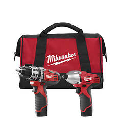 Milwaukee Tools M12 Cordless Combo Kit with 2 Batteries
